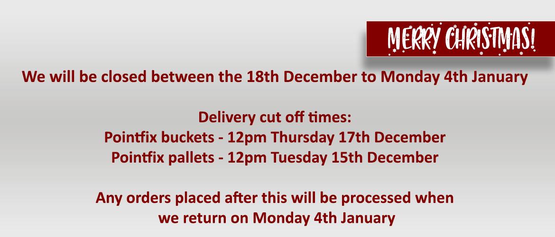 Pointfix Direct - Christmas Closure